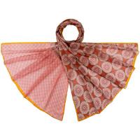 Accessoires textile Femme Echarpes / Etoles / Foulards Allée Du Foulard Etole soie Manao Bordeaux