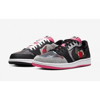 Chaussures Baskets basses Nike Air Jordan 1 Low Chinese New Year Black/Grey/Pink