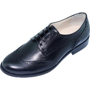 Chaussures Femme Derbies Les Escarpins D'hotesses Nathalie Alarm Free Derby Hotesses Noir