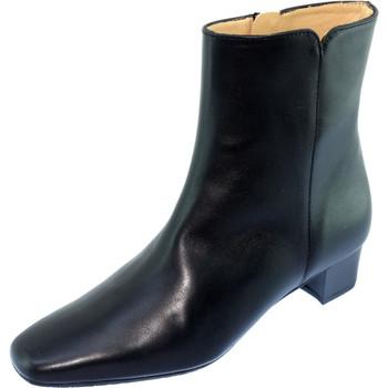Chaussures Femme Bottines Les Escarpins D'hotesses Roissy Cuir Alarm Free Bottines Hotesses Noir