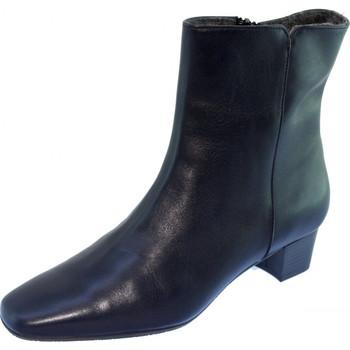 Chaussures Femme Bottines Les Escarpins D'hotesses Roissy Feutre Alarm F Bottines Hotesses Bleu