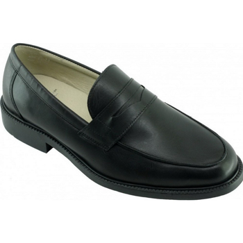 Chaussures Homme Mocassins Uniform-Shoes Bristol Alarm Free Mocassins Steward Noir