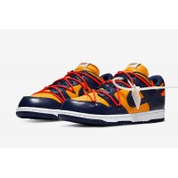 Chaussures Baskets basses Nike SB Dunk Low x Off White University Gold Midnight Navy/Varsity Maize