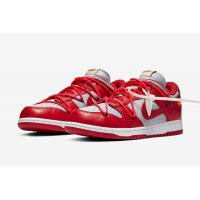 Chaussures Baskets basses Nike SB Dunk Low x Off White University Red University Red/University Red-Wolf Grey