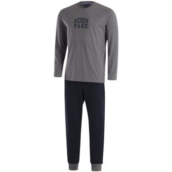 Vêtements Homme Pyjamas / Chemises de nuit Eden Park pyjama long e501f20 Gris Melange