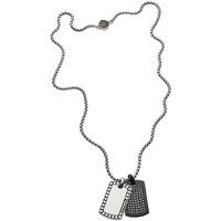 Montres & Bijoux Homme Colliers / Sautoirs Diesel Collier  en Acier Gris Gris