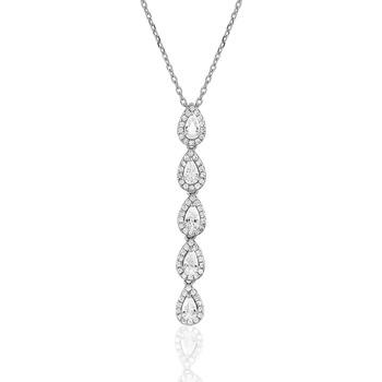 Montres & Bijoux Femme Puces En Or 375/1000 Blanc Cleor Collier  en Argent 925/1000 et Oxyde Blanc