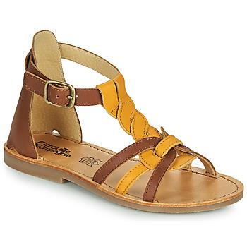 Chaussures Fille Sandales et Nu-pieds Citrouille et Compagnie GITANOLO Jaune / camel