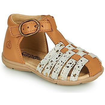 Chaussures Fille Sandales et Nu-pieds Citrouille et Compagnie RINE Camel/ camaieu doré