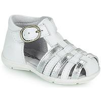 Chaussures Fille Sandales et Nu-pieds Citrouille et Compagnie RINE Blanc / Argent