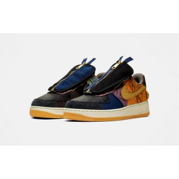 Chaussures Baskets basses Nike Air Force 1 Low x Travis Scott Multi-Color/Muted Bronze-Fossil