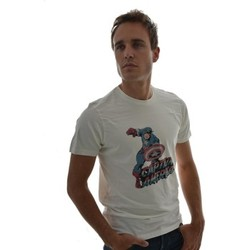 Vêtements Homme T-shirts manches courtes Dessins Animés tee shirt  captain america blanc blanc