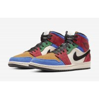 Chaussures Baskets montantes Nike Air Jordan 1 Mid Fearless x Blue The Great Multicolore