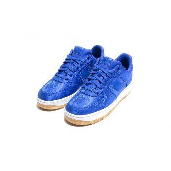 Chaussures Baskets basses Nike Air Force 1 Low x CLOT Silk Blue Game Royal/White-Gum Light Brown