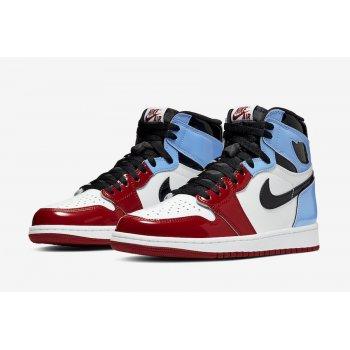 Chaussures Baskets montantes Nike Air Jordan 1 High Fearless  White/University Blue-Varsity Red-Black