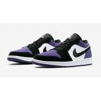 Chaussures Baskets basses Nike Air Jordan 1 Low Court Purple  Court Purple/Black-White