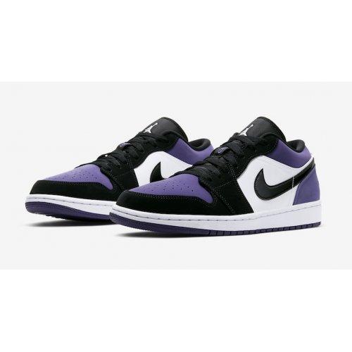 Nike Air Jordan 1 Low Court Purple Court Purple/Black-White ...