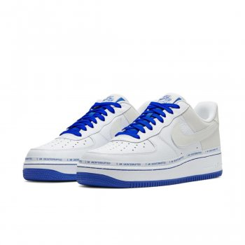 Chaussures Baskets basses Nike Air Force 1 Low More Then White/Lapis Blue