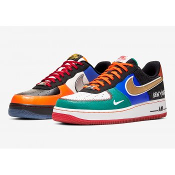 Chaussures Baskets basses Nike Air Force 1 Low  White/Black-Total Orange-Racer Blue