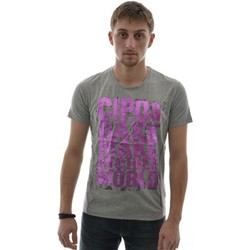 T-shirts manches courtes Cipo And Baxx tee shirt  ct101 gris