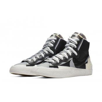 Chaussures Baskets montantes Nike Blazer Mid x Sacai White Grey  Black/Grey/White