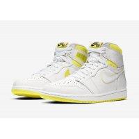 Chaussures Baskets montantes Nike Air Jordan 1 High First Class Flight White/Yellow