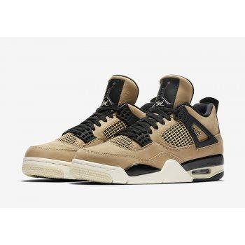 Chaussures Baskets montantes Nike Air Jordan 4 WMNS Mushroom Black/Fossil-Pale Ivory/Mushroom