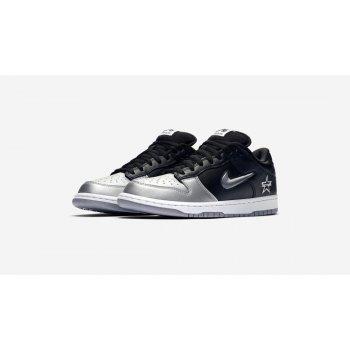 Chaussures Baskets basses Nike SB Dunk Low x Supreme Silver-Black Metallic Silver/Metallic Silver-Black