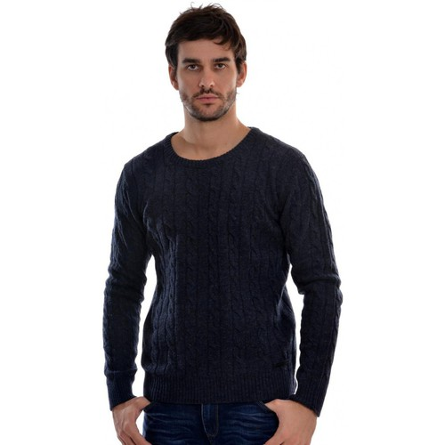 Vêtements Homme Pulls Jack & Jones premium cable bleu