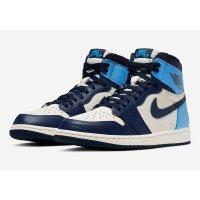 Chaussures Baskets basses Nike Air Jordan 1 High Obsidian Sail/Obsidian-University Blue