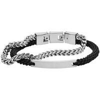Montres & Bijoux Femme Bracelets Fossil Bracelet  en Acier Blanc