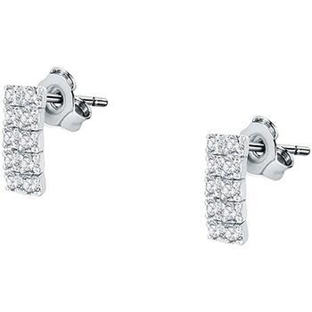 Montres & Bijoux Femme Boucles d'oreilles Cleor Boucles d'oreilles  en Argent 925/1000 et Cristal Blanc