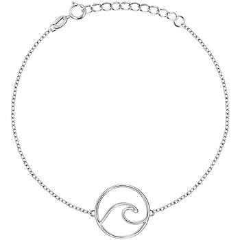 Montres & Bijoux Femme Bracelets Cleor Bracelet  en Argent 925/1000 Blanc Blanc
