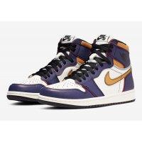 Chaussures Baskets basses Nike Air Jordan 1 x SB LA/Chicago Court Purple/Black-Sail-University Gold