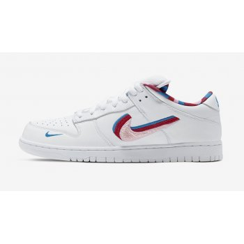 Chaussures Baskets basses Nike SB Dunk Low x Parra WHITE/RED-PINK