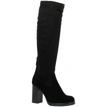 Chaussures Femme Bottes ville Nuova Riviera Bottes cuir velours Noir
