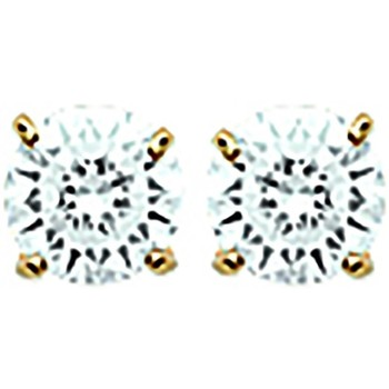 Montres & Bijoux Femme Boucles d'oreilles Brillaxis Boucles d'oreilles puces  plaqué or 4 mm Jaune