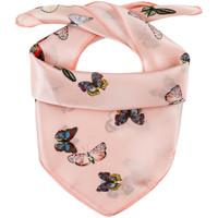 Accessoires textile Femme Echarpes / Etoles / Foulards Allée Du Foulard Carré de soie Piccolo Papini rose