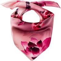 Accessoires textile Femme Echarpes / Etoles / Foulards Allée Du Foulard Carré de soie Piccolo Fulgini rose