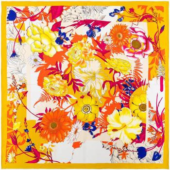 Accessoires textile Femme Echarpes / Etoles / Foulards Allée Du Foulard Carré de soie Premium Marzia Orange