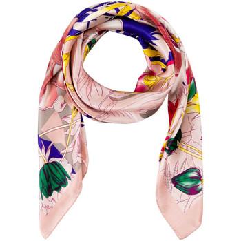 Accessoires textile Femme Echarpes / Etoles / Foulards Allée Du Foulard Carré de soie Premium Marzia Rose