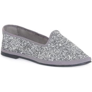Chaussures Femme Ballerines / babies Priv Lab GLITTER ARGENTO Grigio