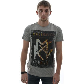 T-shirts manches courtes Malkovich tee shirt  athos gris