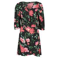 Vêtements Femme Robes courtes Only ONLEVE 3/4 SLEEVE SHORT DRESS WVN Noir / Rose