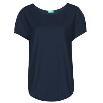 Vêtements Femme T-shirts manches courtes Benetton FOLLIA Bleu