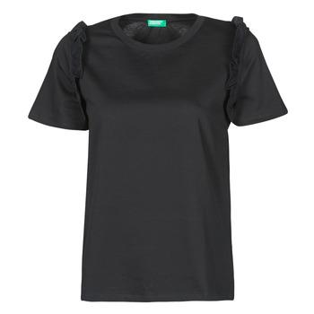 Vêtements Femme T-shirts manches courtes Benetton MARIELLA Noir