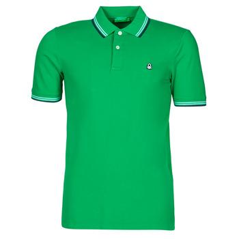 Vêtements Homme Polos manches courtes Benetton JONNA Vert