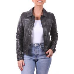 Vêtements Femme Vestes en cuir / synthétiques Ladc Zoe Crunch Noir Noir