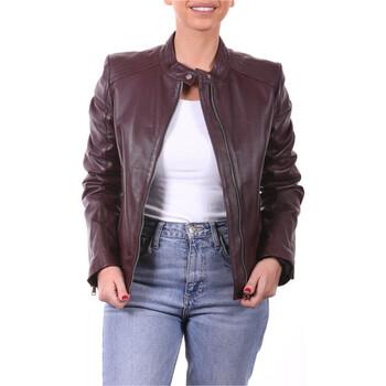 Vêtements Femme Vestes en cuir / synthétiques Ladc Fiona Aubergine Aubergine