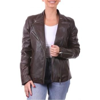 Vêtements Vestes en cuir / synthétiques Ladc Jessy Choco Marron